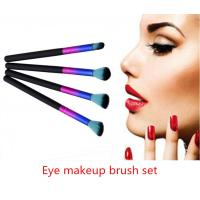 Professional Eye Makeup Brush Set Softable Multi - Colored With Long Handle Manufactures