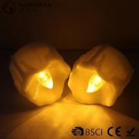 Yellow Flickering Timing Flameless LED Tea Light Candles with Timer Manufactures