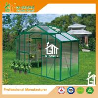 China 4'x8'x6.7'FT Green Color Double Door Traditional Series Garden Greenhouse on sale