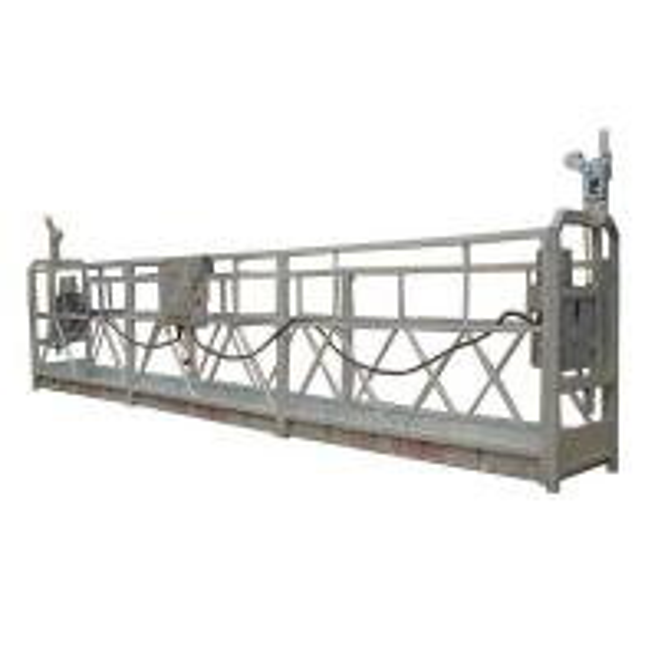 Quality Aluminum cleaning window gondola working platform 800kg LTD80 hoist motor CE for sale