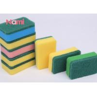 Super Abrasive Scouring Pad , Square Kitchen Cleaning Scrubber Soft Tough