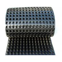 China Dimpled Sheet Drainage Membrane , Basement Waterproofing Plastic Sheeting on sale