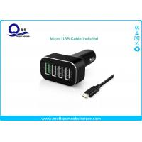 Quality 48W 9.6A 4 Port Smartphone Car Charger with QC 2.0 Supported for Galaxy S7 S6 Edge S8 for sale