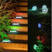 30LED RGB Color Changing Solar Ground Lamps Outdoor Lawn Solar Lights For Garden Path Road Manufactures