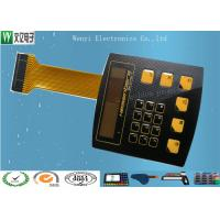China High Glossy Metal Dome Membrane Switch With Aluminum Backplate & FPC Flexible Printed Circuit on sale