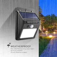 China IP65 Waterproof LED Solar Motion Sensor Light UV Protect ABS Body on sale