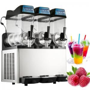 12L×3 800W Ice Slush Machine , Commercial Slush Machine For Frozen Beverage Manufactures