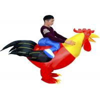 Buy cheap Adult 1.5-1.8m Cock Suit Inflatable Kids Toys Animal Toys Red Chicken Costume from wholesalers