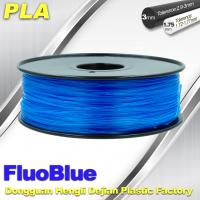 Fluorescent Blue 3D Printer Filament  PLA 1.75mm / 3.00mm 1.0KG / roll For Markerbot Manufactures