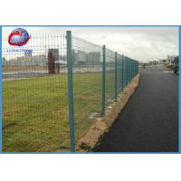 Easy Installation Pvc Coated Welded Wire Mesh Fence With Rectangle Post Manufactures