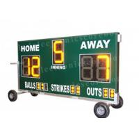 20'' 500mm Height Portable Baseball Scoreboard With Wheel Moving Stand Manufactures