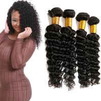 China Full Wet Deep Wave Virgin Hair Bundles No Tangling No Shedding Hair Bundles on sale
