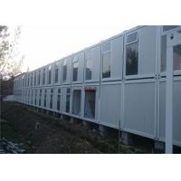 China Fire Proof Container Home Construction Heat - Resistant With 2 Layers Rock Wool Panel on sale