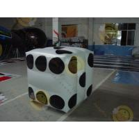 White Fireproof Cube Helium Filled Balloons For Outdoor Advertisement Manufactures