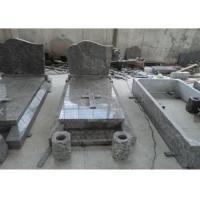 Classic Granite Memorial Headstones Carved / Custom Surface SGS Approved Manufactures
