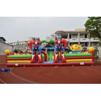 Giant Robot Inflatable Fun City / PVC Piggy Fun Colourful Inflatable Mouse Airplane Fun Park Manufactures