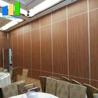 Portable Acoustic Room Dividers Track And Roller Folding Floor To Ceiling Partition Wall Manufactures
