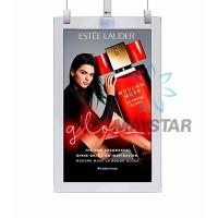 China Double Sized Digital Advertising Screens 55 Inch OLED Wallpaper Hanging Retail Display on sale