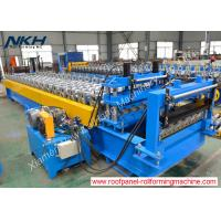 China High Speed Roof Tile Roll Forming Machine Hydraulic Tile Pressing For Roof Panel on sale