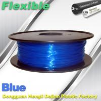 High Soft TPU Rubber 3D Printer Filament 1.75mm / 3.0Mm In Blue Manufactures