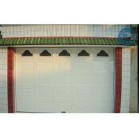 China Color Wooden Automatic Garage Doors, Made Galvanized-steel With PU Forming Inside on sale