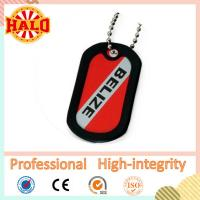 China Printed stainless steel dog tag with silicone silencer on sale