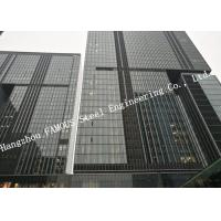 China Double Glazed Layer Glass Facade Curtain Walling Multi Storey Steel Building For Business Mall on sale