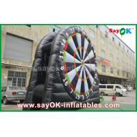Inflatable PVC Velcro Black Football Darts Board Stands For Sports Game Manufactures