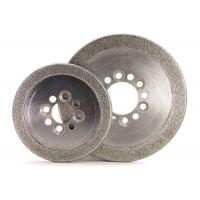 Round Edge Electroplated Diamond CBN Grinding Wheels ISO9001 Certification Manufactures