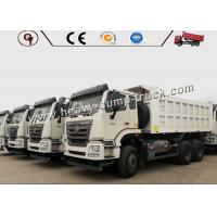 Quality 371HP Sinotruk Hohan 18cbm Heavy Dump Truck , White Color International Dump Truck for sale