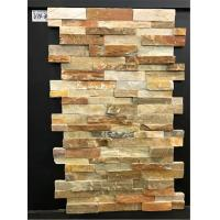 Slate Culture Stone Yellow  Cultured Slate Rock Facing Wall Cladding Manufactures