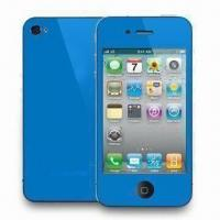 Colorful Screen Protectors for iPhone 4 with High-transparent, Anti-scratch, Easy to Remove  Manufactures