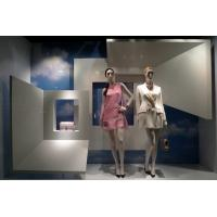 Modern Diverse Spaces Retail Display Stands , Portable Purse Display With White Veneer Manufactures