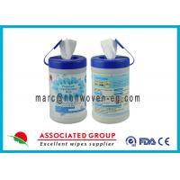 Botanical Disinfectant Wet Wipes Lemon Scented Hand Wipes For Restaurants Manufactures
