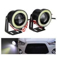 Waterproof LED Auto Headlight Lighting Fog Light With Lens Halo Angel Eyes Rings COB 30W 12V Manufactures