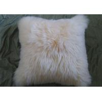Single Sided Sheep Fur Dining Room Chair Cushions Moisture Proof With Long Hair Manufactures