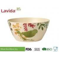 China Biodegradable Melamine Serving Bowls Non Toxic Food Grade Water - Color Bird Design on sale