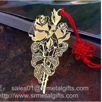 Metal etched book marker for book