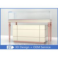 Anti - theft Wooden Glass Jewelry Showcase Display For Shopping Mall Manufactures