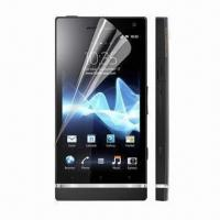 Clear Screen Protectors for Sony Ericsson Xperia S, LT26i, 100-piece Available, OEM/ODM Accepted Manufactures