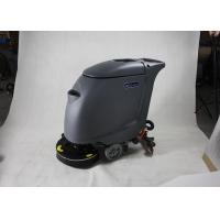 High Efficiency Hand Push Floor Scrubber Dryer Machine With 40L Clear Water Tank Manufactures