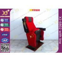 Fire Retardant Fabric Cover Cinema Theater Chairs Anchor Fixed On Floor Manufactures