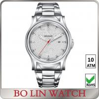 China Mineral Glass Stainless Steel Bracelet Watch , Leather Strap Quartz Movement Watch on sale