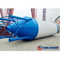 China Easy Assembly Mobile Cement Silo 100 Ton , Grain Storage Stainless Steel Silo on sale