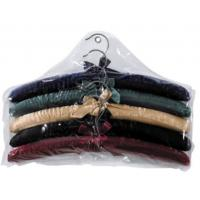 more colors choice  for luxury Sponge Satin  cotton padded clothes hanger for girl and women Manufactures