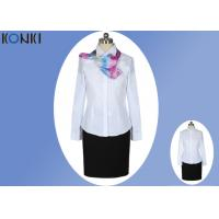Long Sleeve Shirt Professional Office Uniforms With Single Breasted Manufactures