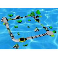 0.9mm PVC Floating Water Park , Sports Games Inflatable Amusement Park