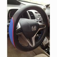 China 3-SPOKE PU CAR STEERING WHEEL COVER on sale
