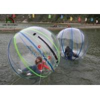 China 1.0mm PVC 2m Dia Inflatable Walk On Water Ball Colorful Stripe Ball For Rentals on sale