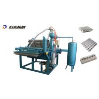 Blue Color Small Egg Tray Production Line , Paper Pulp Moulding Machine Manufactures